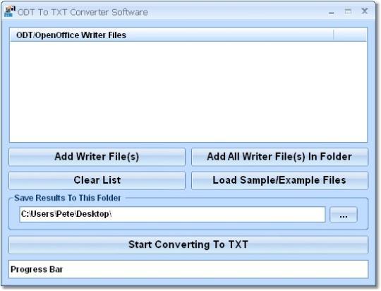 ODT To TXT Converter Software