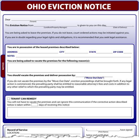 Ohio Eviction Notice