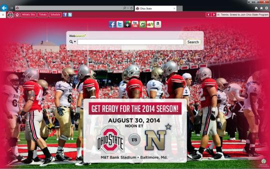 Ohio State Buckeyes Theme for Internet Explorer