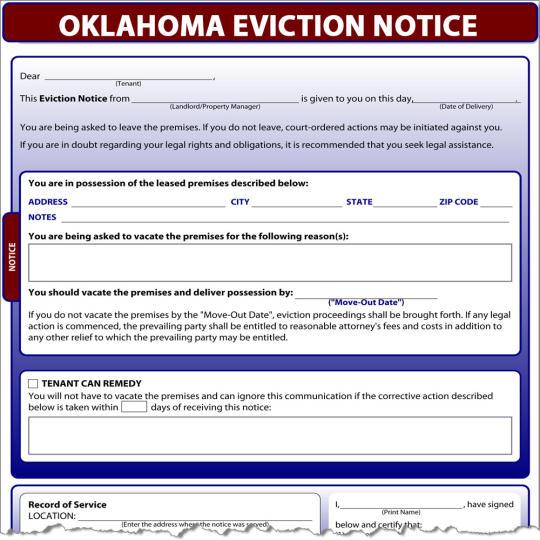 Oklahoma Eviction Notice