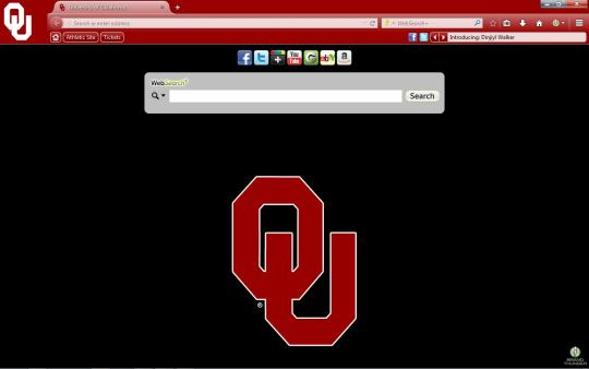 Oklahoma Sooners Theme for Firefox