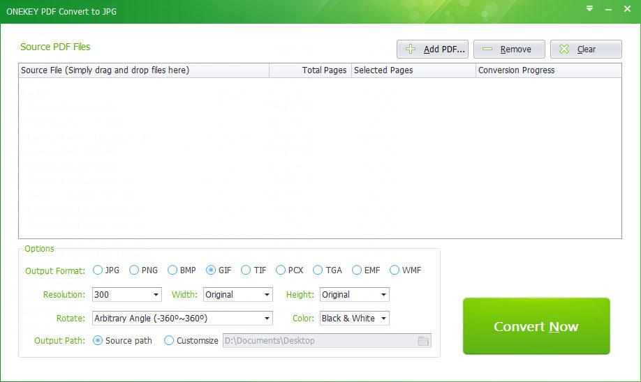 Onekey PDF Convert to JPG Personal