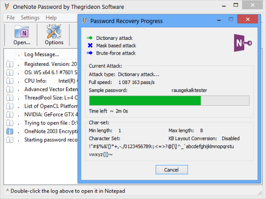 OneNote Password