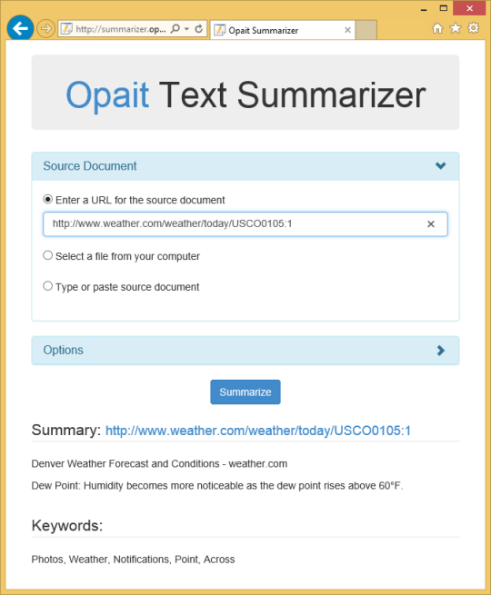 Opait Text Summarizer
