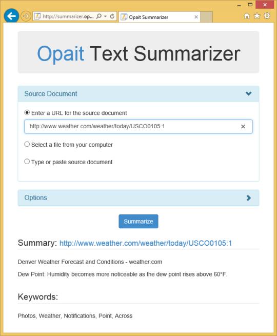 Opait Text Summarizer