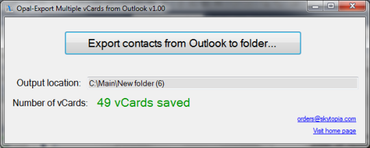 Opal-Export Multiple vCards from Outlook