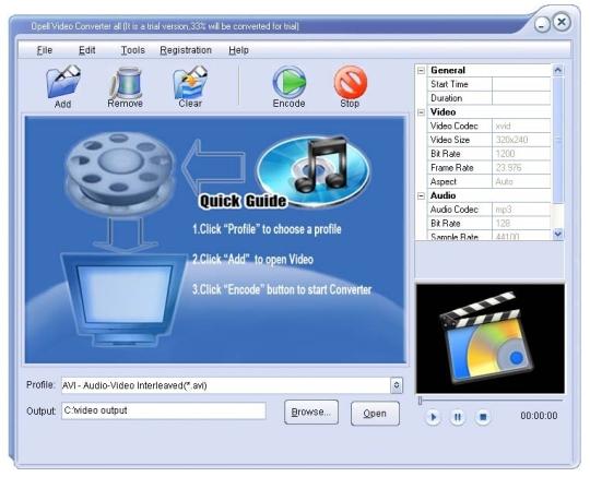 Opell Video to Zune Converter