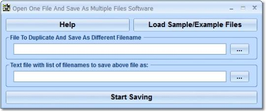 Open One File And Save As Multiple Files Software