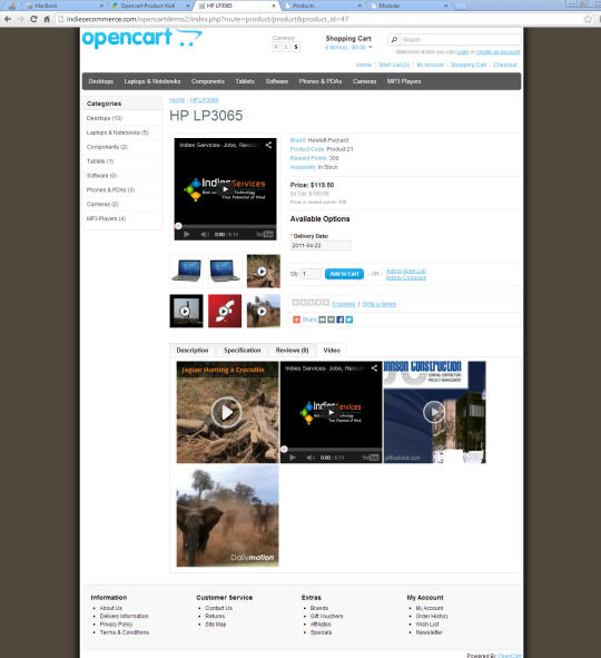Opencart Product Video