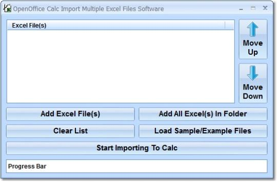 OpenOffice Calc Import Multiple Excel Files Software