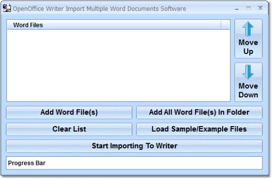 OpenOffice Writer Import Multiple Word Documents Software