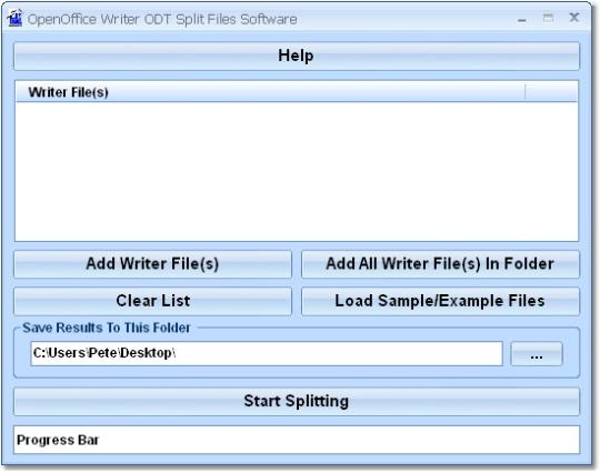 OpenOffice Writer ODT Split Files Software