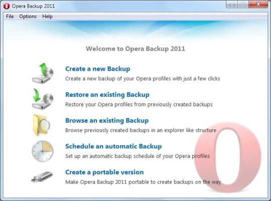 Opera Backup 2011