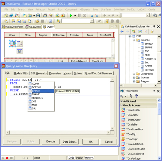 Oracle Data Access Components for RAD Studio XE2