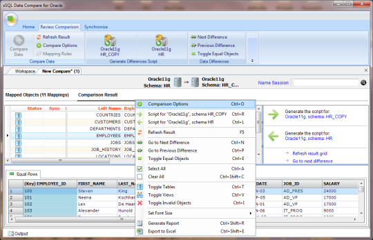 Oracle Data Compare