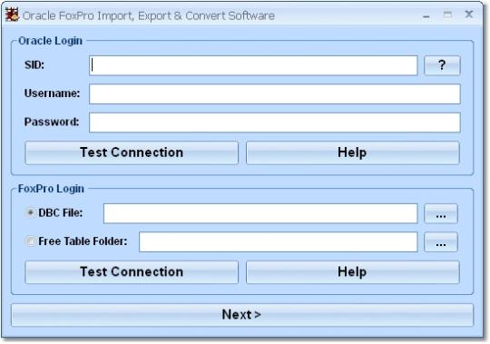 Oracle FoxPro Import, Export & Convert Software