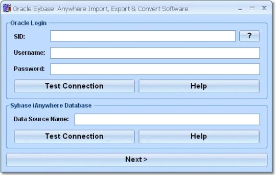 Oracle Sybase iAnywhere Import, Export & Convert Software