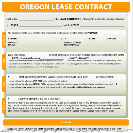 Oregon Lease Contract