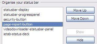 Organize Status Bar