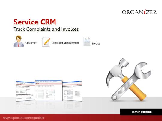 Organizer 2011 Basic Service Manager