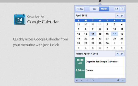 Organizer for Google Calendar