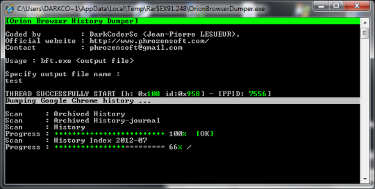 Orion Browser Dumper