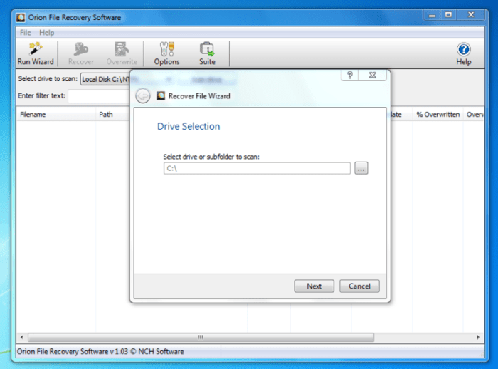 Orion File Recovery Software