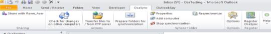OsaSync PRO for Microsoft Outlook