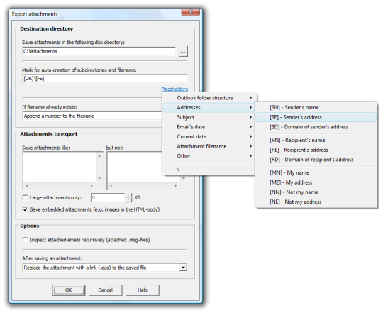 Outlook Attachment Sniffer