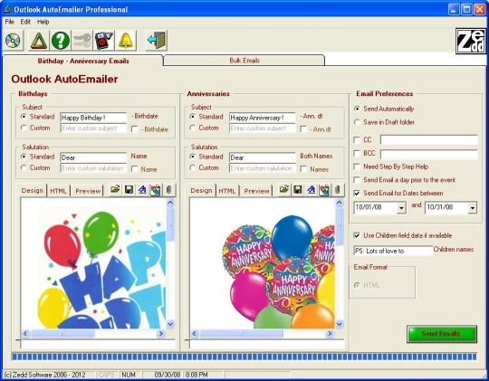Outlook AutoEmailer Professional