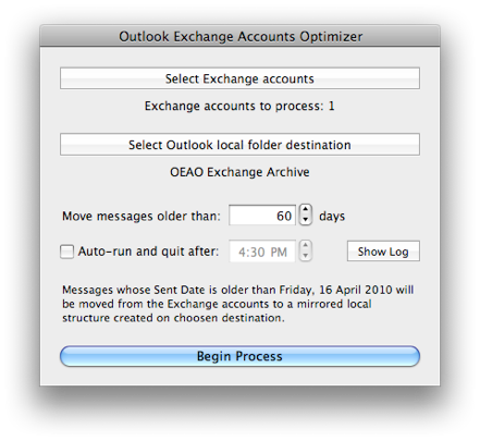 Outlook Exchange Accounts Optimizer