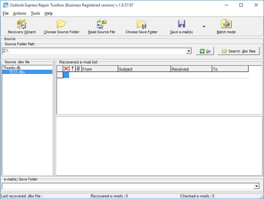 Outlook Express Repair Toolbox