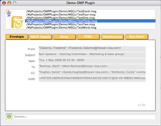 Outlook Message Parser Plugin