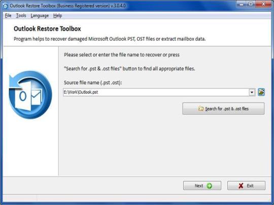 Outlook Restore Toolbox