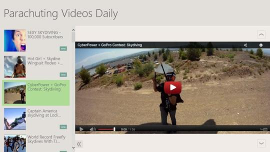 Parachuting Videos Daily for Windows 8