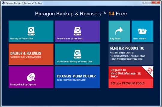 Paragon Backup & Recovery Free (32-bit)