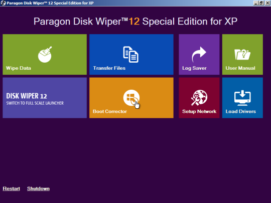 Paragon Disk Wiper 12 Special Edition for XP