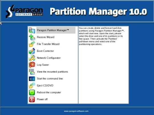 Paragon Free Partition Manager for Virtual Machines