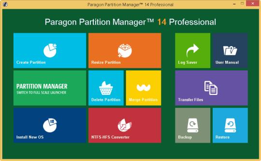 Paragon Partition Manager Professional (32-bit)