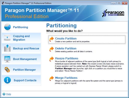 Paragon Partition Manager Professional (64-bit)