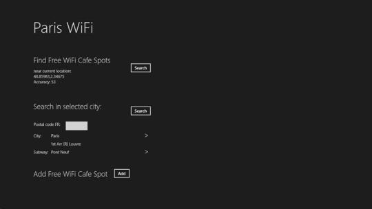 Paris Free WiFi for Windows 8