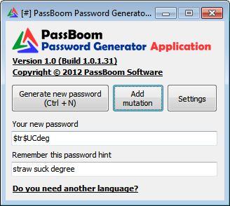 PassBoom Password Generator