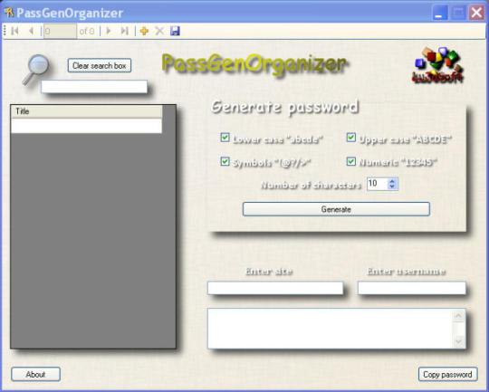 PassGenOrganizer