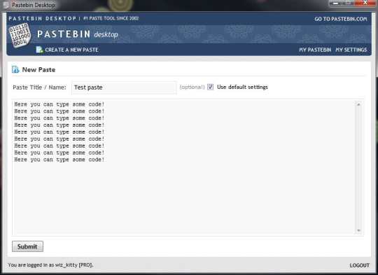 Pastebin Desktop