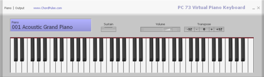 PC 73 Virtual Piano Keyboard