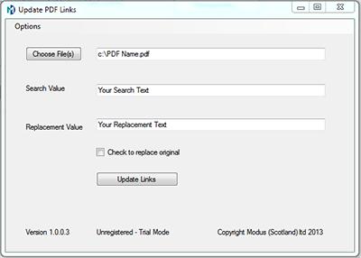 PDF Hyperlink Updater