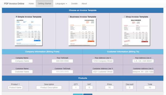 PDF Invoice Online