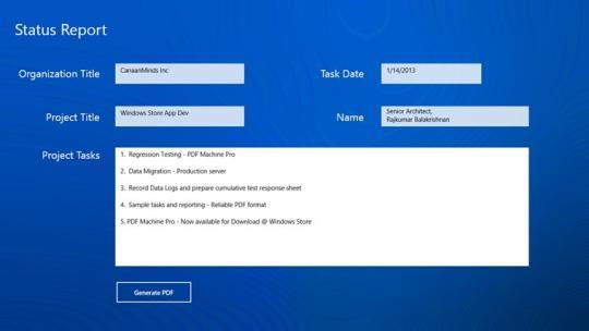 PDF Reporter PRO for Windows 8