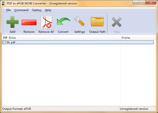 PDF to ePUB MOBI Converter