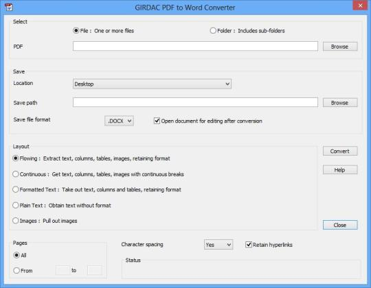 PDF to Word Converter Two-in-One